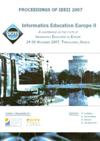 Proceedings of Informatics Education Europe II (IEEII 2007): Developments in South East Europe