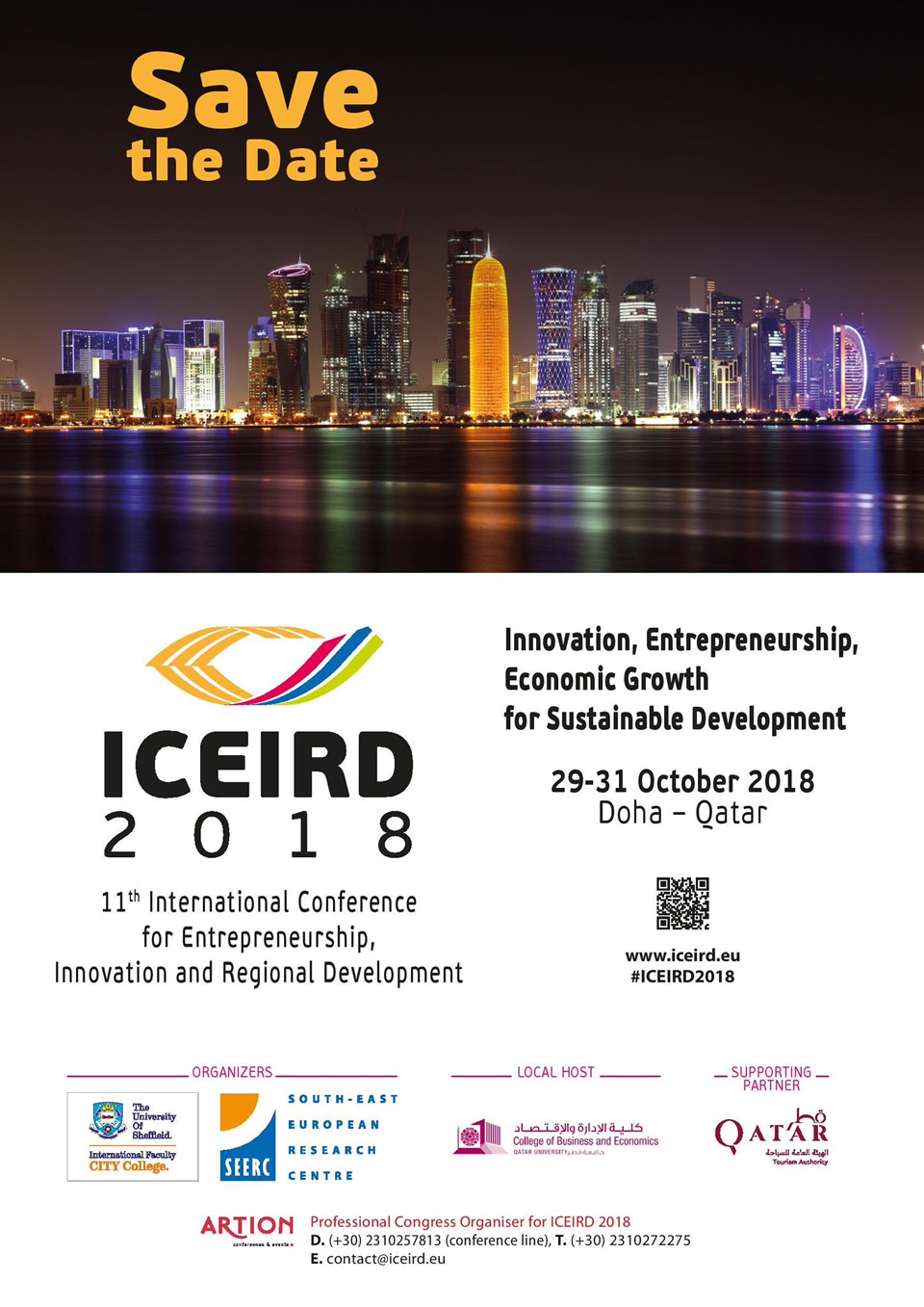 11th International Conference for Entrepreneurship, Innovation and Regional Development (ICEIRD 2018)