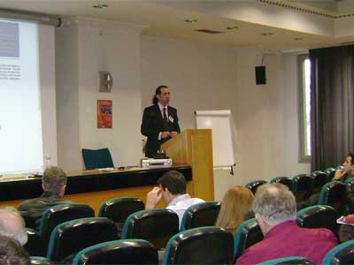 Dimitris Dranidis (CITY College) opening the workshop