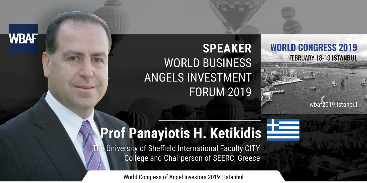 Prof. Ketikidis invited speaker at the World Business Angels Investment Forum 2019 in Istanbul